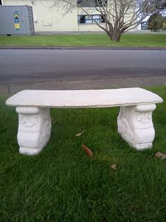 Curved garden seat $199