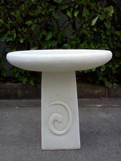 Koru birdbath with round top $130