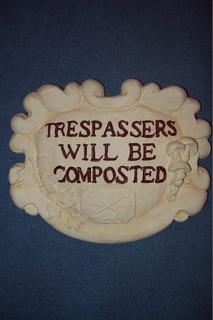 Trespassers will be composted $20