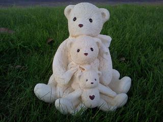 Three teddies $40