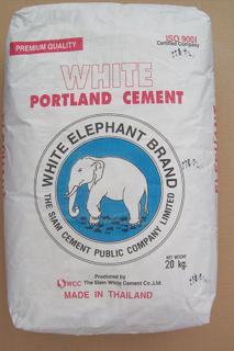 One 20 kg bag of White Elephant Cement $13