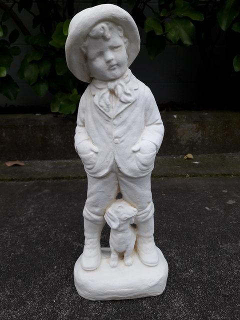 Boy with dog $35